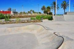 Urban skatepark in Barcelona, Spain Royalty Free Stock Photos