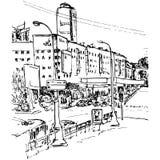 Urban sketch Stock Photo