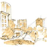 Urban sketch Royalty Free Stock Photography