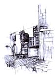 Urban sketch Stock Photos