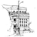 Urban sketch Royalty Free Stock Image