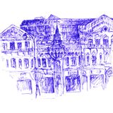 Urban sketch Royalty Free Stock Photos