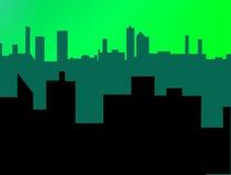 Urban Skyline. Two layers of skyline creating deep space Stock Photos