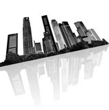 Urban skyline vector illustration
