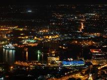 Urban skyline at night Royalty Free Stock Image