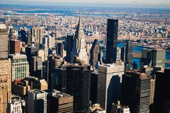 Urban skyline in sunshine Royalty Free Stock Photography