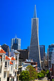 Urban skyline, Transamerica Pyramid, San Francisco Royalty Free Stock Photography