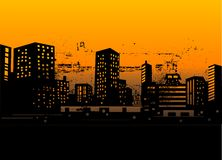Urban skylines Royalty Free Stock Photos