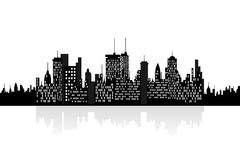 Urban skyscrapers cityview. City skyline with urban buildings Royalty Free Stock Photography