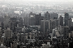 Urban Skyscrapers of New York City Skyline Royalty Free Stock Photography