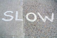 Urban slowdown signal. The Urban slowdown signal on the floor Royalty Free Stock Image