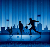 Urban soccer background Stock Images