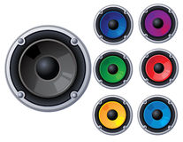 Urban speaker Stock Image