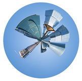 Urban spherical panorama of Moscow city Royalty Free Stock Photo