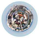 Urban spherical panorama of Moscow living district Royalty Free Stock Photo