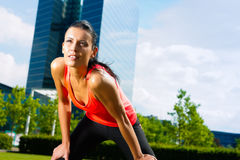 Urban sports - fitness in the city royalty free stock images
