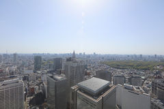Urban sprawl cityscape with Toshima and Shinjuku wards Stock Images