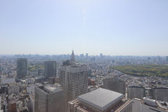 Urban sprawl cityscape with Toshima and Shinjuku wards. The urban sprawl cityscape with Toshima and Shinjuku wards Royalty Free Stock Images