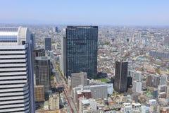 Urban sprawl cityscape with Toshima and Shinjuku wards. The urban sprawl cityscape with Toshima and Shinjuku wards Royalty Free Stock Photography