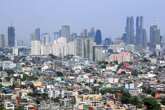 Urban sprawl makati city skyline philippines Royalty Free Stock Images