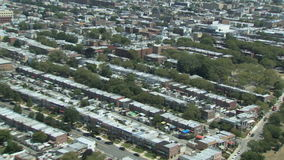 Urban sprawl zoom in. Video of urban sprawl zoom in stock footage