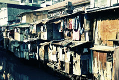 Urban Squalor. Urban scene from a poor third world country stock photos