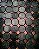 Urban square with cobblestone Royalty Free Stock Images