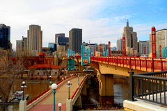 Urban St. Paul Skyline. A picture of urban St. Paul skyline in the state of Minnesota Stock Photography
