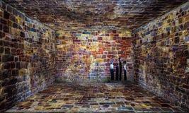 Urban Stage Brick Room Stock Image