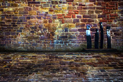 Urban Stage Brick Room Stock Photo