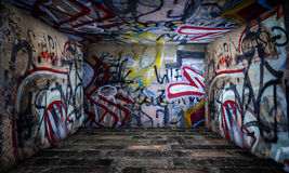 Urban Stage Graffiti Room Stock Image
