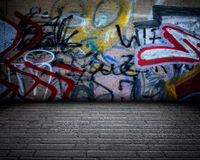 Urban Stage Graffiti Room Royalty Free Stock Image