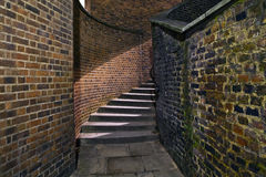 Urban Staircase in an Alleyway Stock Photography