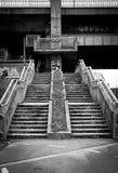 Urban stairs. Under bridge stairs in Bratislava (Slovakia Stock Photos
