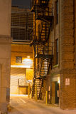 Urban Stairs. City stairs, photographed at night in downtown Raleigh, North Carolina Stock Image