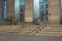 Urban Stairs. City stairs, photographed at night in downtown Raleigh, North Carolina Stock Images