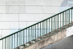 Urban stairway with green metal railings Royalty Free Stock Photography