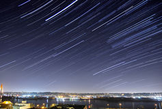 Urban startrails Stock Image