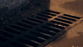 Urban Storm Drain. Close up stock video