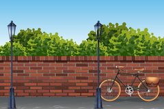 Urban street background template. Illustration stock illustration