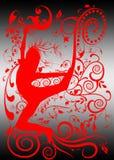 Urban street dance silhouette Stock Image