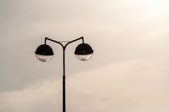 Urban street lamp sky Royalty Free Stock Images