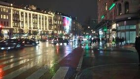 Urban street at night Stock Image