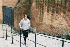 Urban street running workout Royalty Free Stock Photo