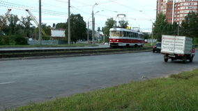 Urban street transport. Samara. Russia stock video footage