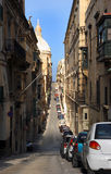 Urban street, Valetta, Malta. Royalty Free Stock Images