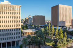 Urban streetscapes and buildings in downtown Phoenix, AZ Royalty Free Stock Photography