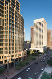Urban streetscapes and buildings in downtown Phoenix, AZ Royalty Free Stock Image