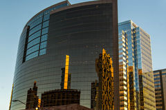 Urban streetscapes and buildings in downtown Phoenix, AZ Stock Image