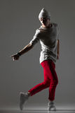 Urban style cool dancer guy Royalty Free Stock Photography